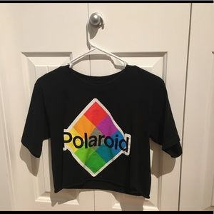 Other - Polaroid black crop top
